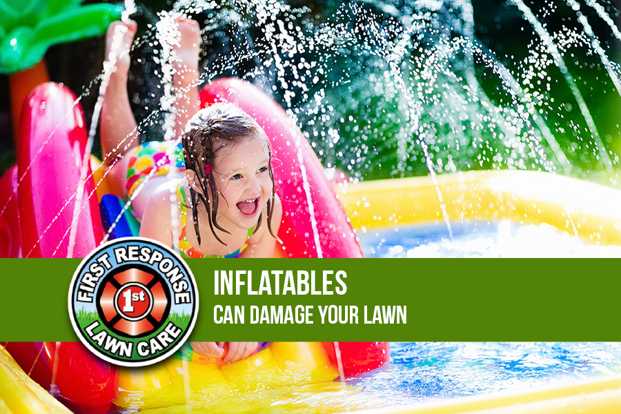 Inflatables Can Damage Your Lawn