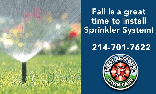 fall sprinkler installation